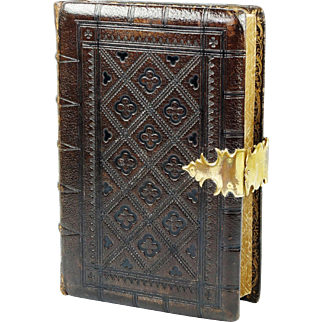 Antique 1850s Polyglot Bible Book Of Common Prayer Handsome Tooled Leather Gilt Clasp Samuel Bagster And Sons English