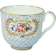 Antique Coalport Porcelain Floral Cup English Circa 1830