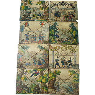 Rare Early 19th Century Puzzle Board Game French Territories Conquest of Algeria Early Railway Circa 1840 incomplete