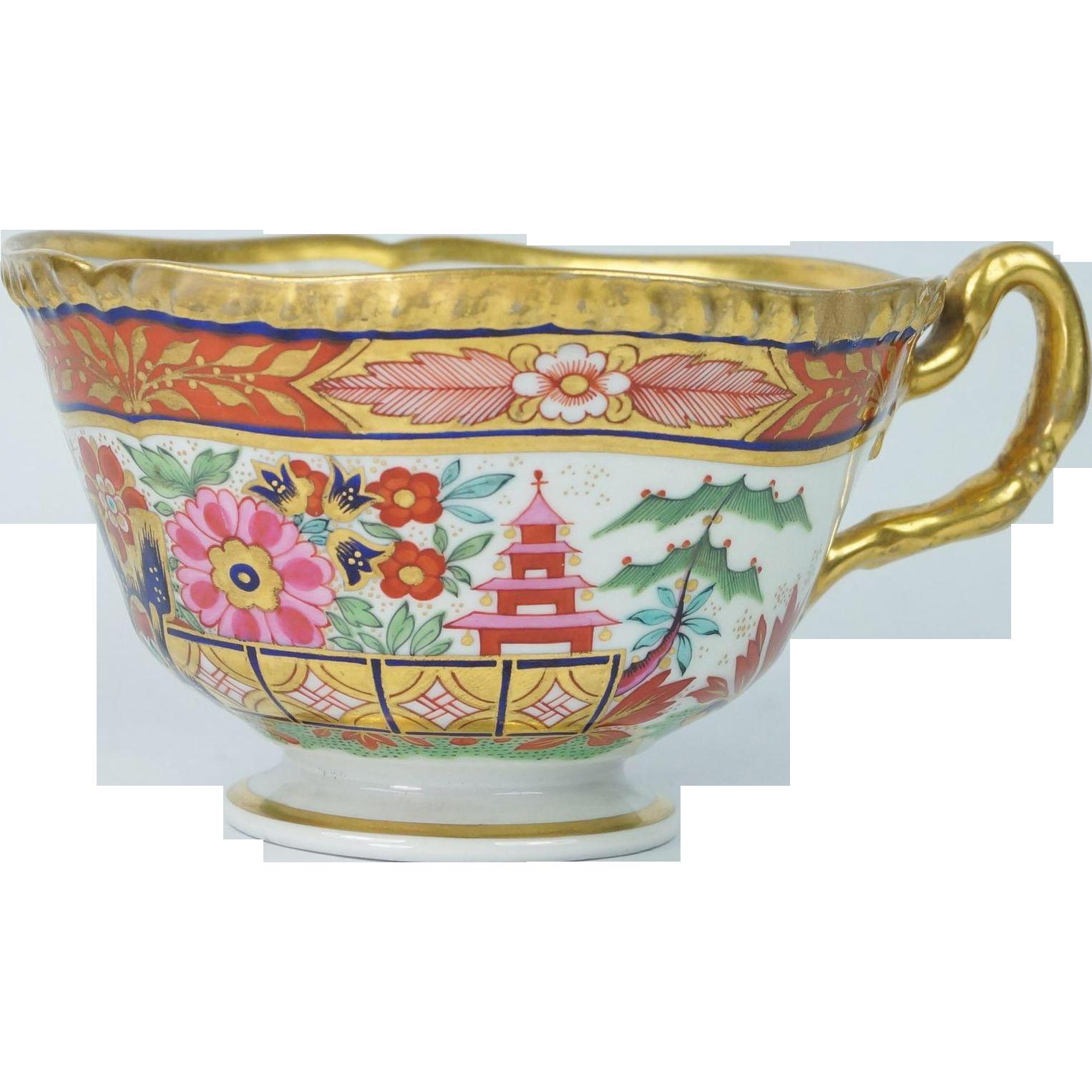 Worcester Flight Barr And Barr Porcelain Cup Japan Pattern Circa 1820