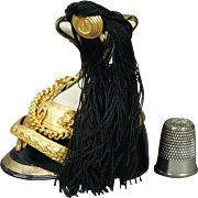 19th Century Imperial Austrian Dragee Box Miniature Czapka Tschapka Helmet Royal Candy Container Issued By Queen Victoria to Emperor Franz Joseph