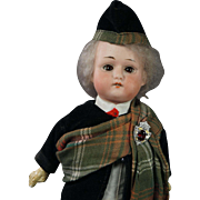 "Antique Max Oscar Arnold Welsh 200 12"" Bisque Doll Scottish Highlander  Made in Germany Circa 1914"