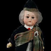 "Antique Max Oscar Arnold Welsh 200 12"" Bisque Doll Scottish Highlander  Made in Germany Circa 1914"