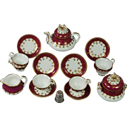 Antique Miniature Doll Porcelain Tea Service Samuel Alcock 19th Century Georgian Circa 1830