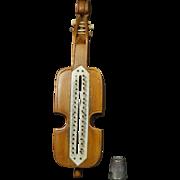 Antique Rare 19th Century Carved Treen Cello Knitting Device Peg Knitting, Loom, Knitting Nancy Circa 1840