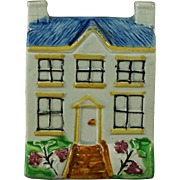 19th Century Pearlware Folk Art Model  House Money Bank Money Box Circa 1830s
