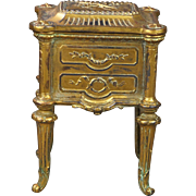 19th Century French Doll Gilt Commode Cabinet Vitrine Jewelry Box Circa 1880