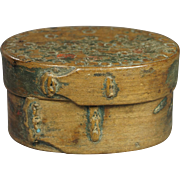 19th Century Scandinavian Small Bentwood Storage Box Folk Ark Inscribed Georgian 1810