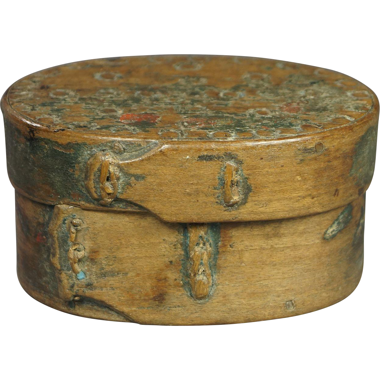19th Century Scandinavian Small Bentwood Storage Box Folk Ark Inscribed Georgian 1810