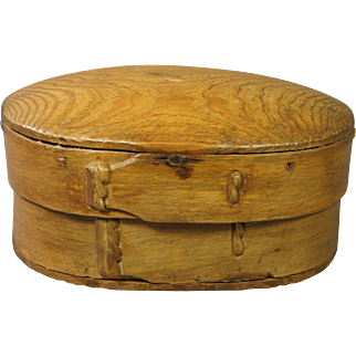 Early 19th Century Scandinavian Small Bentwood Storage Box Folk Ark Circa 1810