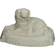 Mid 19th Century Parian Dog Dash Queen Victoria's Cavalier King Charles Spaniel Circa 1850