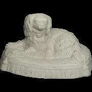 Mid 19th Century Parian Dog Dash Queen Victoria's Cavalier King Charles Spaniel Circa 1850