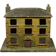 19th Century Folk Art House Model Money Box English Circa 1830