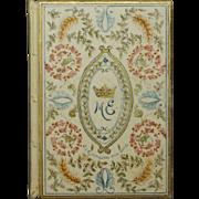 British Peerage Illuminated Vellum Marriage Book Marchioness of Exeter Cecil Family 1901