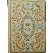 Illuminated 1901 Wedding Book Lord and Lady Exeter, Burghley House, Bolton Hall, Bolton Castle England, Provenance Cecil and Orde-Powlett Family