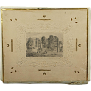 19th Century Barritt London Embossed Card Folio Album Pencil Drawing Covers Fancy Isle of White Note Paper Contents Victorian Circa 1840s