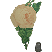 Antique 19th Century Victorian Folding Paper Rose Novelty Souvenir Bath, England Circa 1860