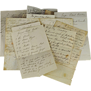 19th Century Recipe Set Hand Written Victorian English Circa 1870 Cooking Baking Ephemera