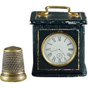 19th Century Victorian Thimble Case Novelty Carriage Clock Doll Size Circa 1890