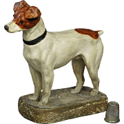 English 19th Century Jack Russell Terrier Dog Figure Circa 1890 Victorian