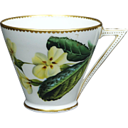 19th Century Cup Aesthetic Movement George Jones Porcelain Floral Tea Cup 1876