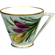 19th Century Aesthetic Movement Cup George Jones Porcelain Crocus Design 1876