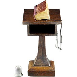 Victorian Miniature Holy Bible Book Pulpit Magnifier David Bryce and Son Glasgow 1901