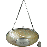 Unique Vintage Art Deco Presentation Handbag Purse Mother of Pearl Abalone Ladies Lawn Tennis Club 1931 Phuket