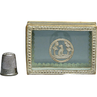 Antique French Dog Candy Dragee Box PRETTY Circa 1820 Georgian Boite a Dragees Bonbons