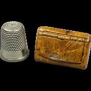 Antique Toy Miniature Snuff Box RARE Tiny Doll Size Georgian 1820