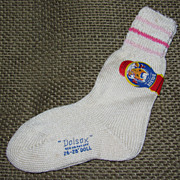 "Vintage 'Dolsox' (Socks) - Mint With Tag - 26 - 28"" Doll"