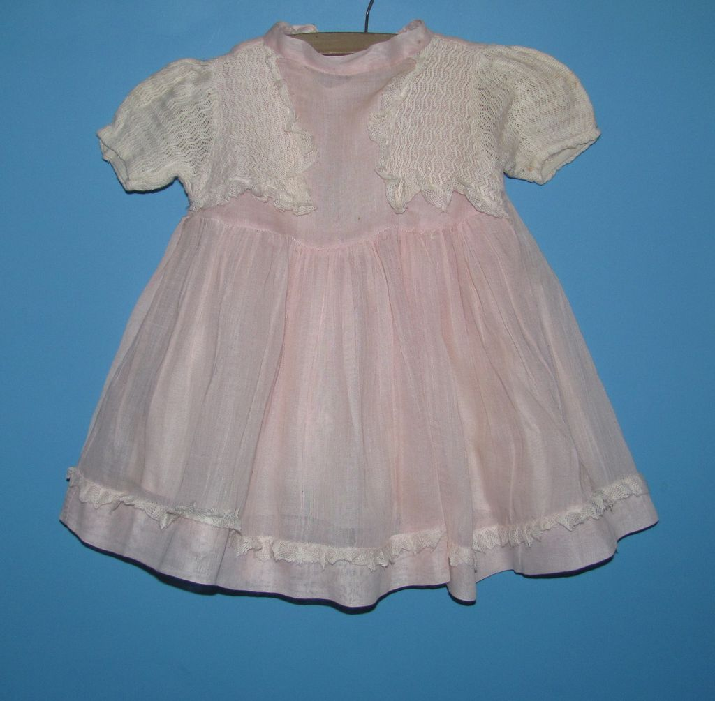 Large Pink Doll Dress - For Composition Mama Or Bisque Baby