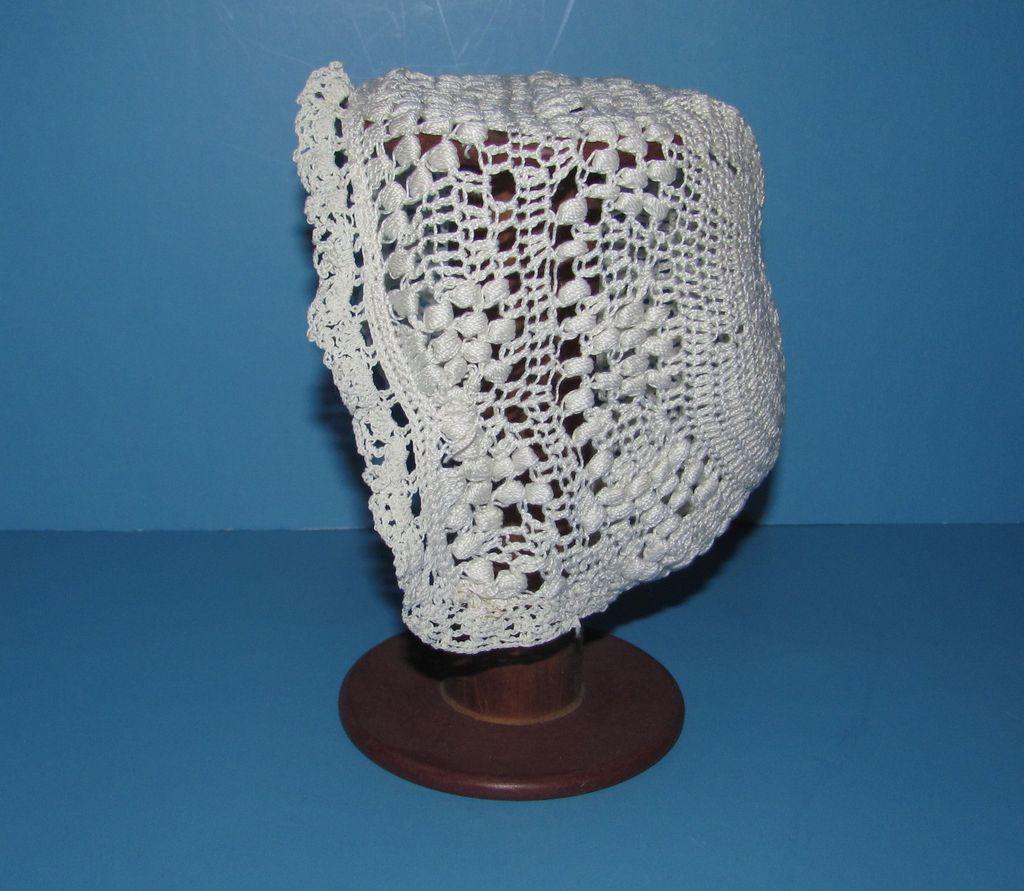 Fancy Crochet Doll Bonnet