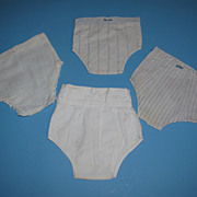 4 Pairs of Vintage Doll Underwear