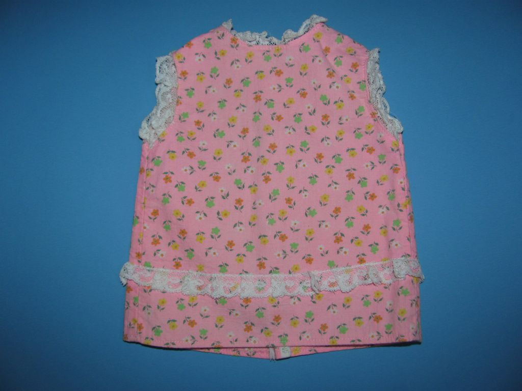 Pink Flower Mod Doll Dress