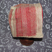 Antique Net Lace Doll Bonnet