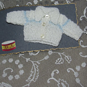 Miniature Knit Doll Sweater For Tiny Doll