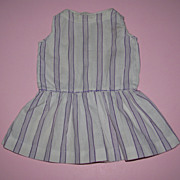 Purple Striped Doll Dress - Drop Waist
