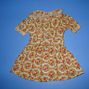 Vintage Flower Print Doll Dress With Lace Trim