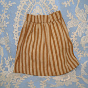 Brown Striped Handsewn Doll Skirt