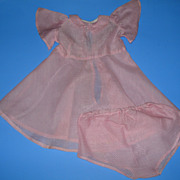 Vintage Pink & White Doll Dress With Matching Unders
