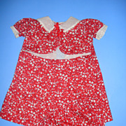 Large Doll Floral Print Doll Dress With Matching Unders