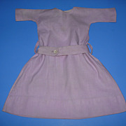 Vintage Lavender Linen Doll Dress