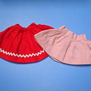 2 Vintage Doll Skirts