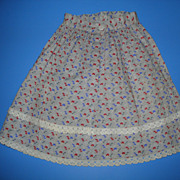 Doll Skirt With China Button Closure