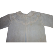 Embroidered Doll Shirt - For Large Bisque Doll