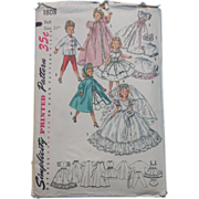 Simplicity Doll Clothes Pattern For Cissy And Revlon Dolls