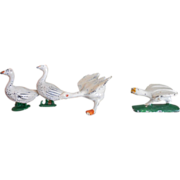 Assorted Cast Metal Dollhouse Geese