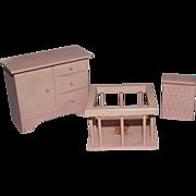 3 Piece Dollhouse Nursery Set - Cute Deer Decal