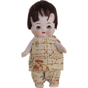 Chubby Hertwig German Bisque Doll With Sleep Eyes